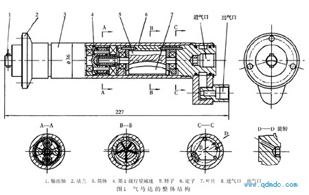 小功率、高转速气动马达整体结构