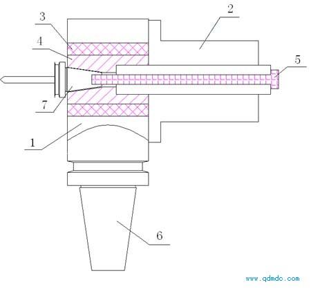 带有气动马达的数控镗铣床刀具装置的结构示意图